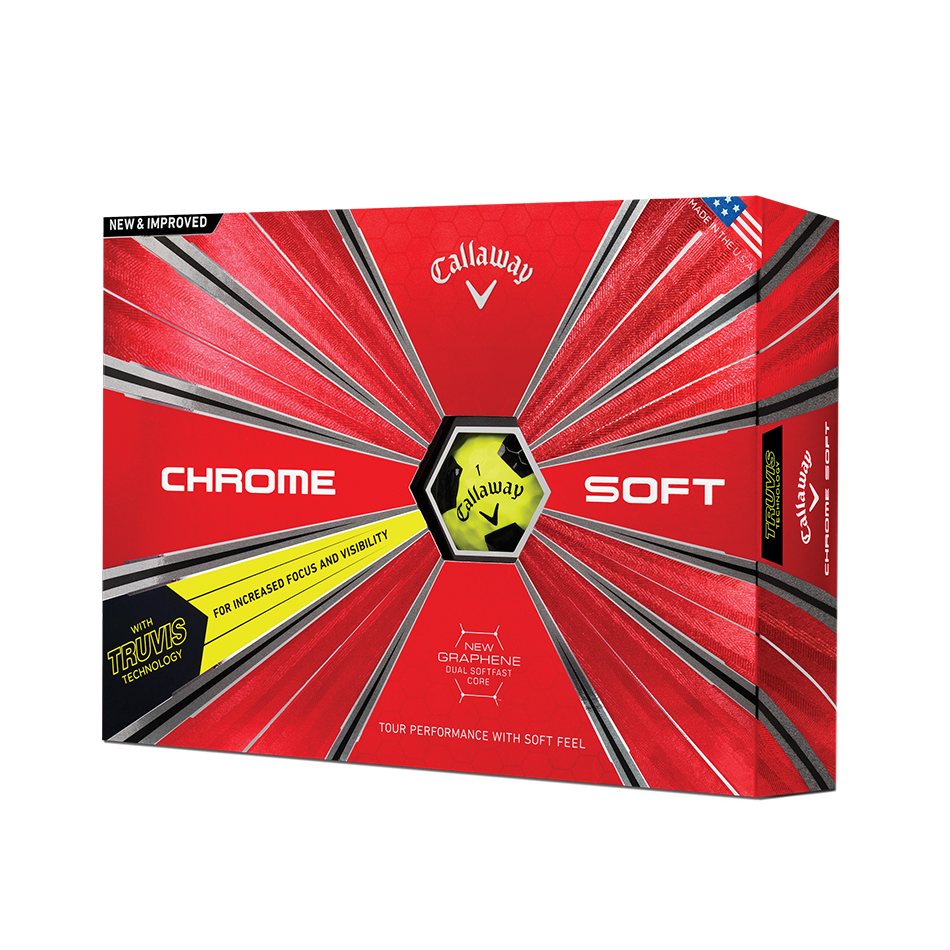 Introducing Chrome Soft Truvis Yellow Golf Balls illustration