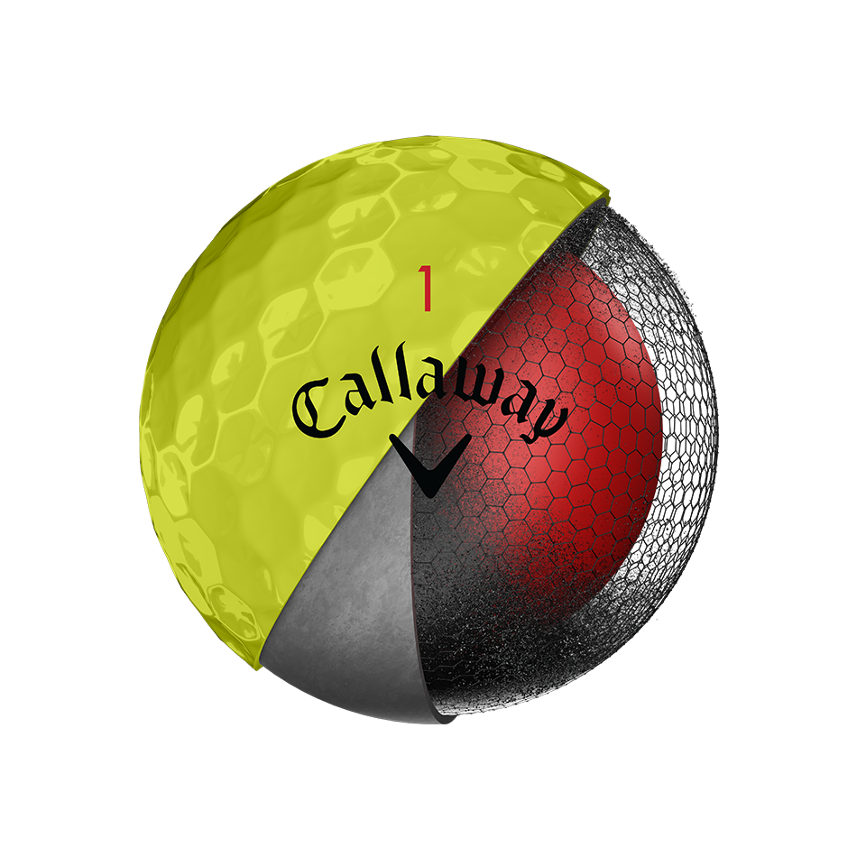 Introducing Chrome Soft Yellow Golf Balls illustration